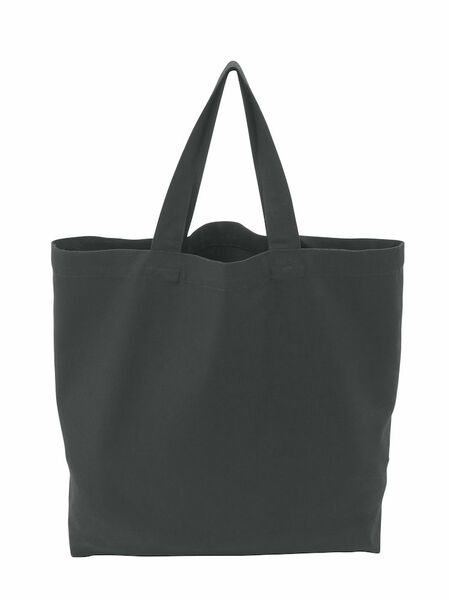COTTOVER TOTE BAG (GOTS) L /290g CHARCOAL One Size